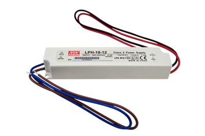LED VOEDING MEANWELL 24V 18W 0.75A IP67