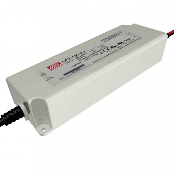 LED VOEDING MEANWELL 24V 151,2W 6.3A IP67