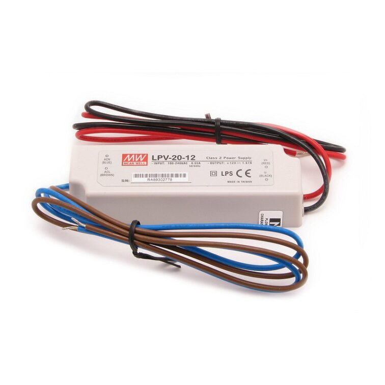 LED VOEDING MEANWELL 12V 20W 1.67A IP67