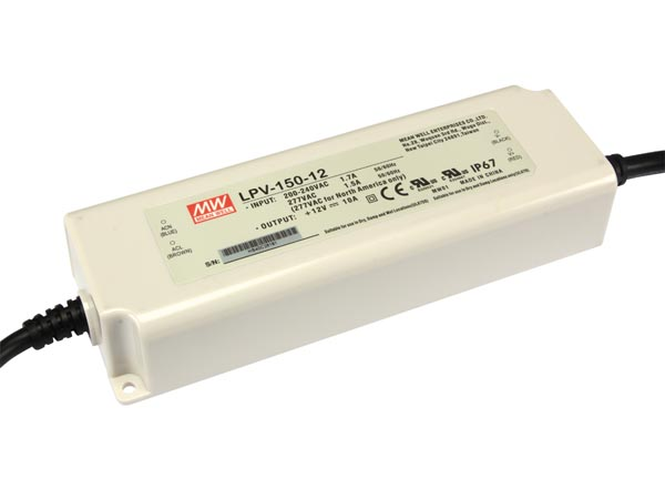 LED VOEDING MEANWELL 12V 120W 10A IP67